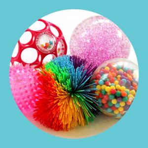 Sansemotorisk udstyr og legetøj